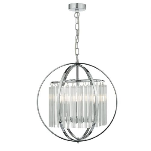 ABDUL 3LT PENDANT Polished Chrome/ CRYSTAL ABD0350